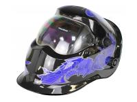 Маска сварщика FoxCraft «Киборг» (цвет: синий)