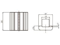 Размеры керамических подкладок MOST LT05TT TIA